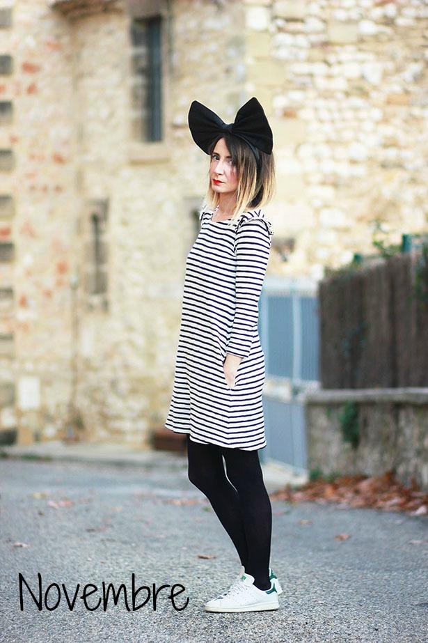 robe-leon-harper-rayée
