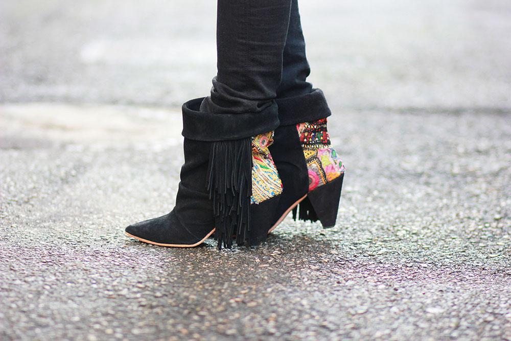 boots-franges-brodées