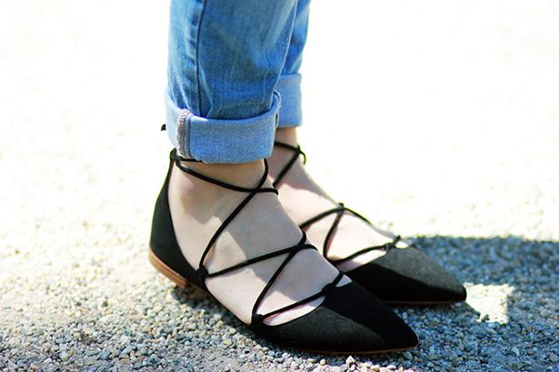 ballerines-zara-lacets