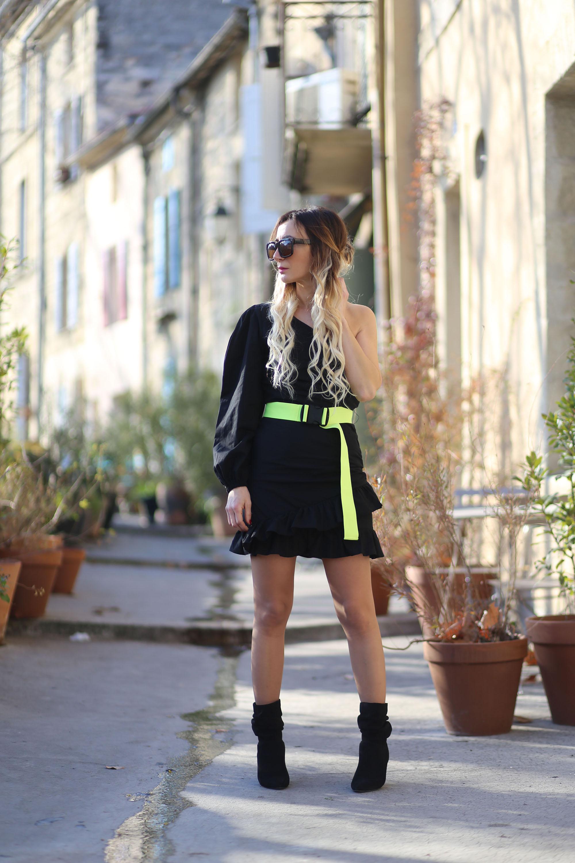 robe-volants-noire-asos
