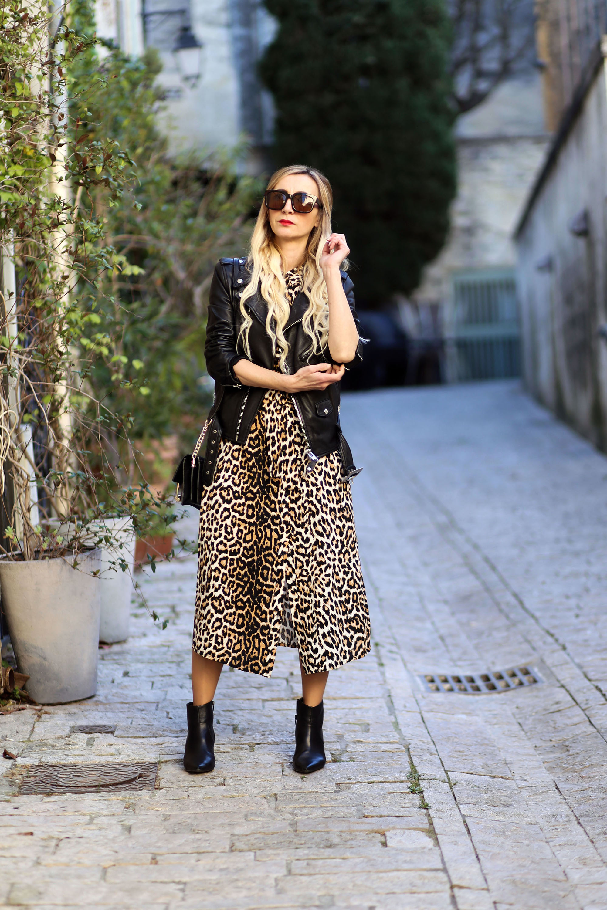 robe midi léopard