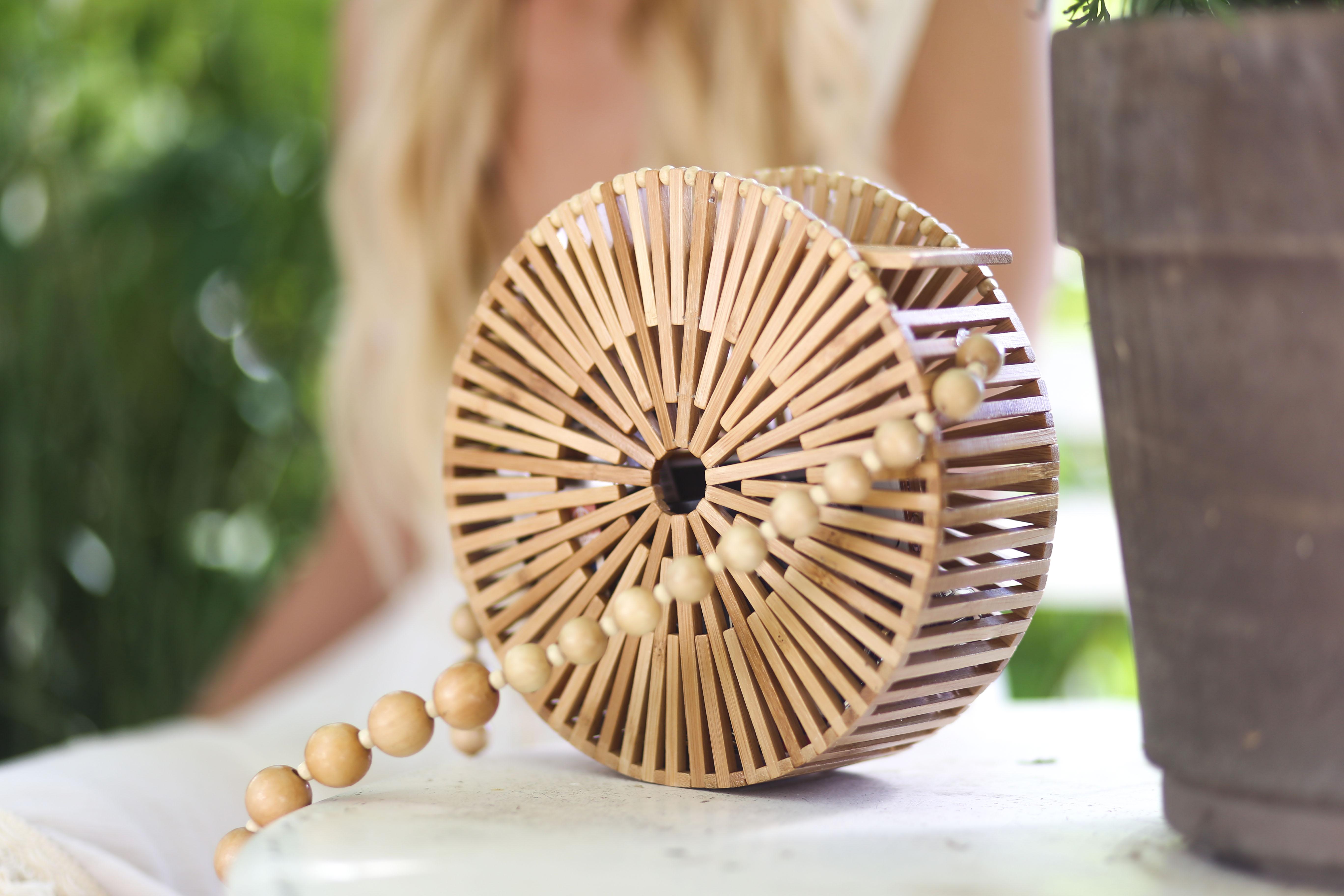 sac rond bambou