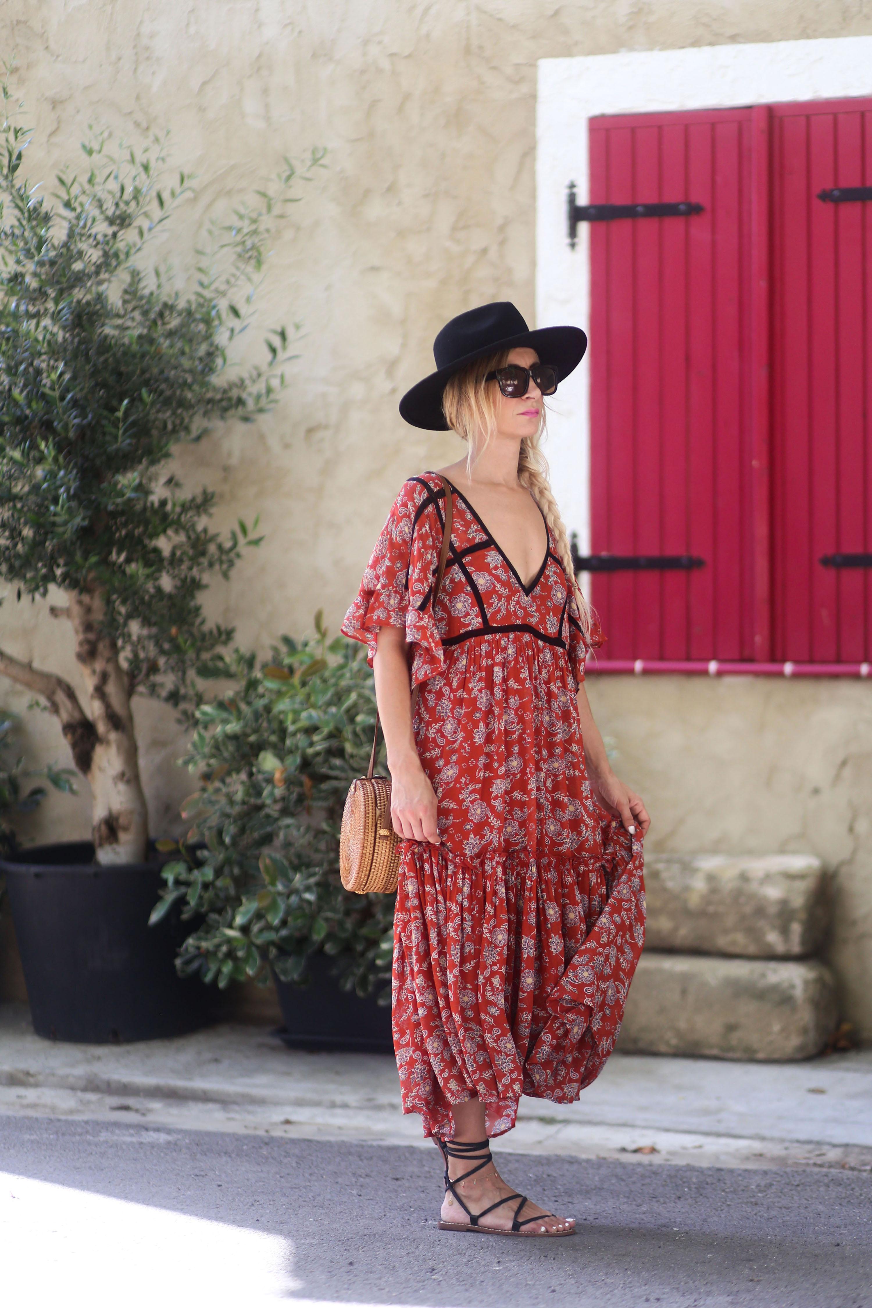 robe longue imprimée femme promod